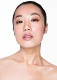Skönhet som retuscherar teknikmakeup och skincare Royaltyfri Bild