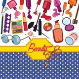 Skönhetbakgrund royaltyfri illustrationer