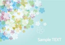 Skönhetblommabakgrund - blått Royaltyfri Fotografi