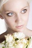 skönhetblondin Royaltyfri Foto