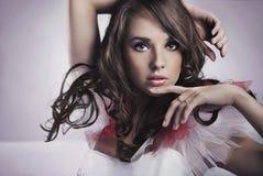 skönhetbrunett Royaltyfri Foto