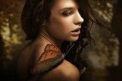 skönhetbrunett Royaltyfri Fotografi