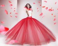 skönhetbrunett Royaltyfria Bilder