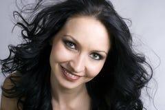 skönhetbrunettkvinna arkivfoton