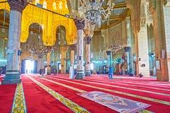 Skönheten av Abu al-Abbas al-Mursi Mosque, Alexandria, Egypten Arkivfoton