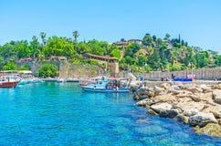 Skönheten av den Antalya marina Arkivfoto