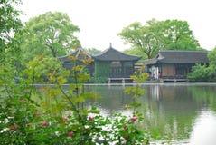 Skönheten av den västra sjön i Hangzhou Royaltyfri Bild