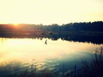 Skönheten av floden på semester 2 Royaltyfria Bilder