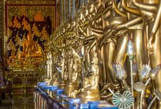Skönheten av tempel i Thailand arkivbilder