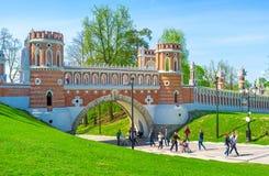 Skönheten av Tsaritsyno Arkivfoto