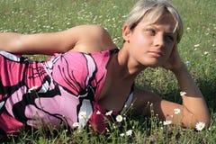 skönhetflicka Royaltyfri Fotografi