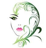 Skönhetflickaframsida Royaltyfri Fotografi