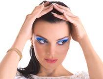skönhetflickamakeup Fotografering för Bildbyråer