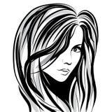 skönhetframsidaflicka vektor illustrationer