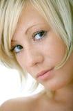 skönhetframsidakvinna Royaltyfri Fotografi