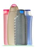 skönhethuvuddelen bottles omsorgsplast-produkter Royaltyfria Foton