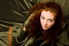 skönhetklänninggreen Royaltyfri Foto
