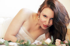 skönhetkvinna Arkivfoto