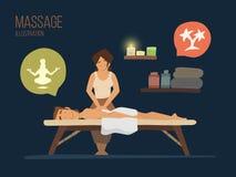 Skönhetkvinna som får ansikts- massage Royaltyfria Foton