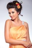 Skönhetkvinnaleenden Royaltyfria Foton
