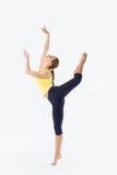 Skönhetkvinnaställning - dansare Pose Arkivfoton