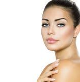 Skönhetkvinnastående Royaltyfria Bilder