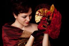 skönhetkvinnlign like målning Arkivbild