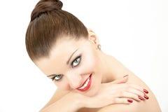 skönhetmanicure royaltyfri foto