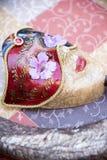 Skönhetmaskering och horn Royaltyfria Foton