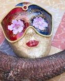 Skönhetmaskering och horn Royaltyfri Fotografi