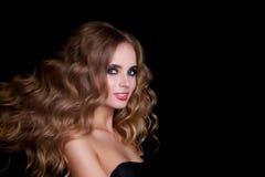 Skönhetmodemodell Woman, stående Arkivfoton