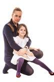 Skönhetmoder och dotter Arkivfoto