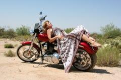skönhetmotorcykel Royaltyfri Bild