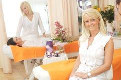 skönhetmottagningsrum Royaltyfri Fotografi