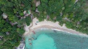 Skönhetnaturlandskap med stranden, havet och djungeln på Thailand Surrvideo 4K arkivfilmer