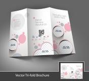 Skönhetomsorg & trifold broschyr för salong Royaltyfri Fotografi