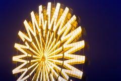 Skönhetpariserhjul på natten Arkivfoto