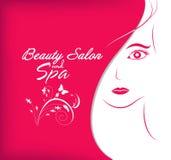 Skönhetsalong och brunnsort stock illustrationer