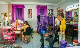 Skönhetsalong, Santa Clara, Kuba Royaltyfri Fotografi