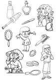 skönhetsmedel Stock Illustrationer
