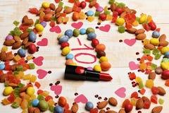 Skönhetsmedel för barn` s på försäljning -10% Arkivfoton