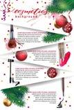 Skönhetsmedel och modebakgrund med sminkkonstnären anmärker: läppstift mascaraeyeliner Mallvektor vektor illustrationer