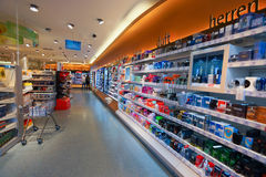 Skönhetsmedel shoppar inre Royaltyfri Bild