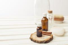 Skönhetsmedelolja för bad och bastur Royaltyfri Bild
