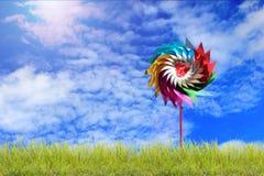 Skönhetsommar, abstrakta miljö- bakgrunder med turbinen Royaltyfria Foton