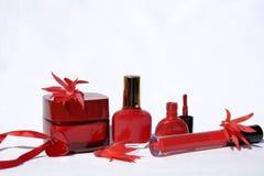 Skönhetsprodukter .cosmetic Arkivbild