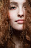 skönhetståenderedhead Royaltyfria Bilder