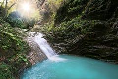 Skönhetvattenfall Arkivfoto