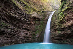 Skönhetvattenfall Fotografering för Bildbyråer