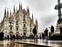 Sköt av kupolen av Milan arkivfoto